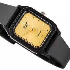 Casio Women's Elegant Rectangular Watch Gold Dial